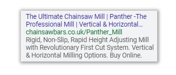 Google Ad example